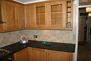 Kitchen Tiles For Oak Kitchen wonderful kitchen tiles for oak makeover 2 toned gray and white
